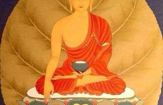 Buda en hoja de Bodhi.