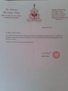 certificado de lama